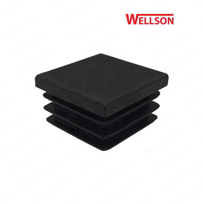 10 x 50 x 50mm square box section plastic tube inserts blanking caps