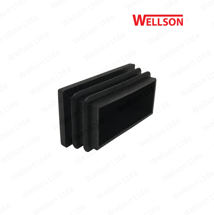 50mm X 25mm Rectangle Plastic Blanking End Caps Tube